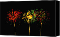 Fire Works Canvas Prints - Celebration Canvas Print by James Heckt
