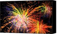 Fireworks Digital Art Canvas Prints - Celebration Canvas Print by Richard Rizzo