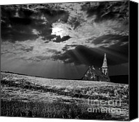 Storm Photo Canvas Prints - Celestial Lighting Canvas Print by Meirion Matthias