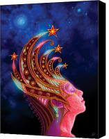 Utherworlds Canvas Prints - Celestial Queen Canvas Print by Philip Straub