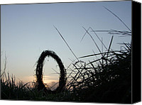 Sunset Photograph Digital Art Special Promotions - Celtic Circle Dawn-06 Canvas Print by Pat Bullen-Whatling