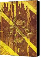 Modern Abstract Art Tapestries - Textiles Canvas Prints - Celtic Cross  2 Canvas Print by Tomislav Turkalj