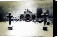 Ghosts Canvas Prints - Cemetery Canvas Print by Joana Kruse