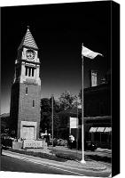 Flagpole Canvas Prints - Cenotaph Clock Tower And Flagpole Niagara-on-the-lake Ontario Canada Canvas Print by Joe Fox