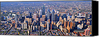 Philadelphia Skyline Canvas Prints - Center City Aerial Photograph Skyline Philadelphia Pennsylvania 19103 Canvas Print by Duncan Pearson