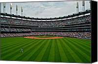 Bases Loaded Canvas Prints - Center Field Canvas Print by Robert Harmon