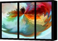 Triptych Canvas Prints - Center Piece triptych Canvas Print by Terril Heilman
