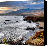 Cambria Photo Canvas Prints - Central California Coastline Canvas Print by Phil Huettner
