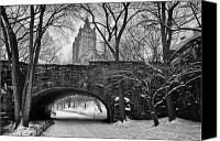 2012 Canvas Prints - Central Park and the San Remo Building Canvas Print by John Farnan
