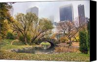 Nyc Canvas Prints - Central Park Bridge Canvas Print by June Marie Sobrito