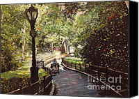 Nyc Pastels Canvas Prints - Central Park Upper East Side Canvas Print by Barry Rothstein