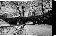 Winter Canvas Prints - Central Park West and the San Remo Building  Canvas Print by John Farnan