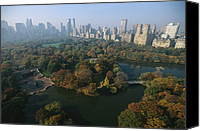 Skylines Canvas Prints - Central Parks Bethesda Fountain Canvas Print by Melissa Farlow