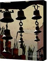 Chimes Canvas Prints - Ceramic Bells Canvas Print by Olden Mexico