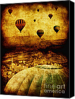 Hot Air Canvas Prints - Cerebral Hemisphere Canvas Print by Andrew Paranavitana