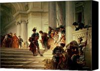 Vatican Painting Canvas Prints - Cesare Borgia leaving the Vatican Canvas Print by Giuseppe Lorenzo Gatteri