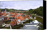 Vltava Canvas Prints - Cesky Krumlov Overview 2 Canvas Print by Madeline Ellis