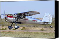 Casa Grande Canvas Prints - Cessna 140 NC2574N Cactus Fly-in March 2 2012 Canvas Print by Brian Lockett