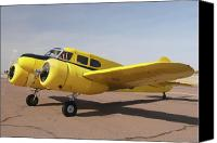 Casa Grande. Canvas Prints - Cessna T-50 Bobcat N59188 Casa Grande Airport Arizona March 5 2011 Canvas Print by Brian Lockett