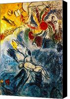 Christianity Canvas Prints - Chagall: Creation Canvas Print by Granger