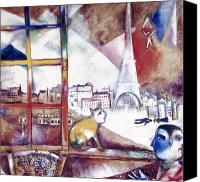 Flk Canvas Prints - Chagall: Paris, 1913 Canvas Print by Granger