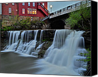 Marvelous Canvas Prints - Chagrin Falls Ohio Canvas Print by Robert Harmon