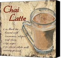 Latte Canvas Prints - Chai Latte Canvas Print by Debbie DeWitt