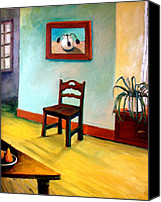 Chairs Canvas Prints - Chair and Pears Interior Canvas Print by Michelle Calkins