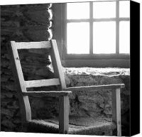 Stone Wall Canvas Prints - Chair by Window - Ireland Canvas Print by Mike McGlothlen