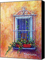 Iron Pastels Canvas Prints - Chair in the Window Canvas Print by Tanja Ware