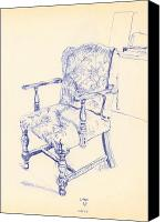 Ball Point Pen Canvas Prints - Chair Canvas Print by Ron Bissett