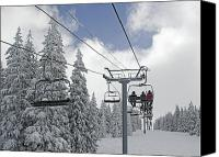 Athletes Canvas Prints - Chairlift at Vail Resort - Colorado Canvas Print by Brendan Reals