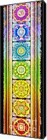 Sacral Canvas Prints - Chakra Banner Ed. 2012 Canvas Print by Dirk Czarnota