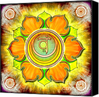 Yoga Canvas Prints - Chakra Swadhisthana Ed. 2012 Canvas Print by Dirk Czarnota