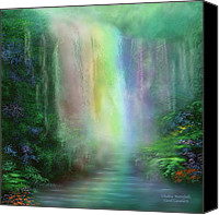 Chakra Canvas Prints - Chakra Waterfalls Canvas Print by Carol Cavalaris