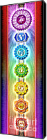 Sacral Canvas Prints - Chakras Banner Ed. 2010 Canvas Print by Dirk Czarnota