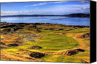 Golfing Canvas Prints - Chambers Bay Golf Course II Canvas Print by David Patterson