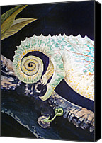 Chameleon Canvas Prints - Chameleon Tail Canvas Print by Irina Sztukowski