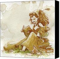 Women Canvas Prints - Chamomile 2 Canvas Print by Brian Kesinger