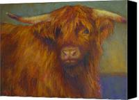 Cattle Pastels Canvas Prints - Chamomile Canvas Print by Susan Williamson