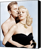 Opera Gloves Photo Canvas Prints - Champion, From Left Kirk Douglas Canvas Print by Everett