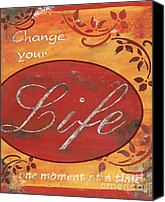 Change Painting Canvas Prints - Change your Life Canvas Print by Debbie DeWitt