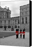 Decoration Photo Canvas Prints - Changing of the Guard at Windsor Castle Canvas Print by Lisa Knechtel