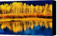 Montana Digital Art Canvas Prints - Changing Seasons Canvas Print by Russ Harris