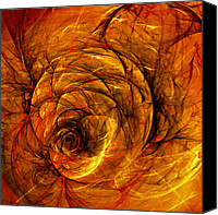 Orange Black Canvas Prints - Chaos Canvas Print by Scott Norris