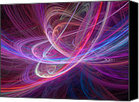 Chaos Theory Canvas Prints - Chaos Waves, Artwork Canvas Print by Laguna Design