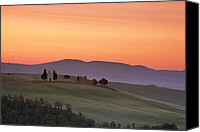 Capella Canvas Prints - Chapel and farmhouse in Tuscany Canvas Print by Andrew Soundarajan
