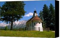 Alpine Canvas Prints - Chapel at Lautersee Canvas Print by Kevin Smith