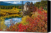 Continental Divide Canvas Prints - Chapel on the Rock Fall Canvas Print by Jennifer Grover