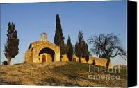 Church Photos Canvas Prints - Chapelle dEygalieres en Provence. Canvas Print by Bernard Jaubert